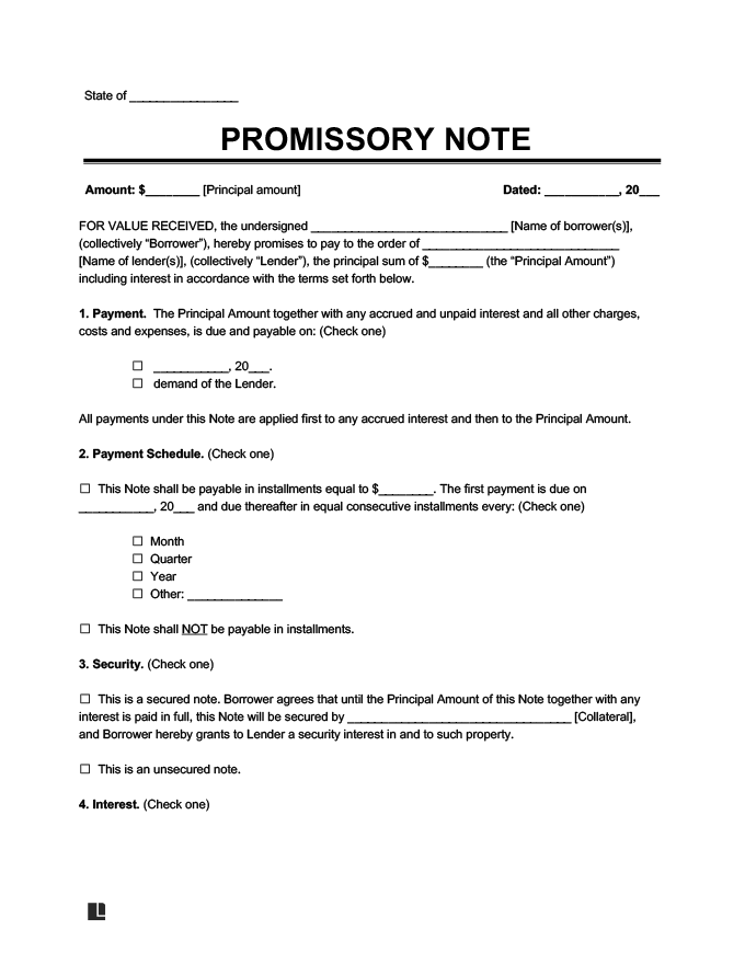 Promissory Note Template and Sample | Legal Templates