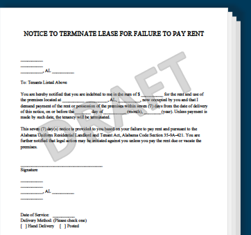 Legal Templates  Landlord Eviction Notice Sample