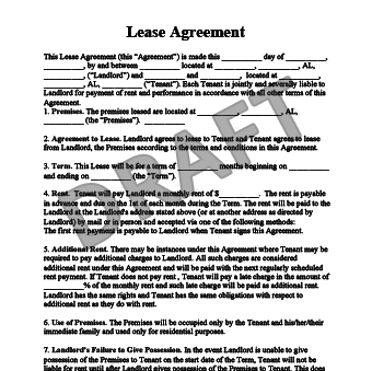 Lease Agreement. View Sample  Free Lease Agreements Templates