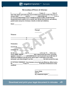 revocation of power of attorney sample