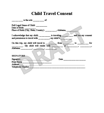 Child permission to travel letter child travel consent form create travel consent form sample kak2tak altavistaventures