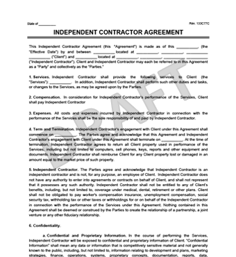 Sample Contractor Agreement | Create An Independent Contractor Agreement Legaltemplates
