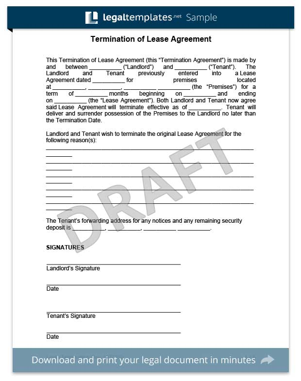 Make a Free Lease Termination Letter in Minutes – Lease Termination Letter