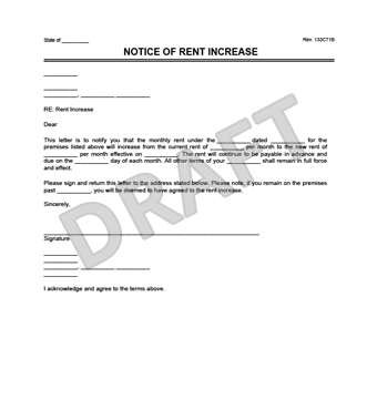 Create a rent increase notice in minutes legal templates notice of rent increase document thumbnail view sample spiritdancerdesigns Images