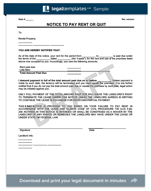 Late Rent Notice Create a Late Rent Notice in Minutes – Late Rent Notice Template