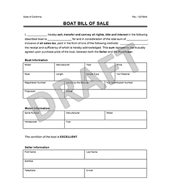 Speaking, pleasure craft licence form