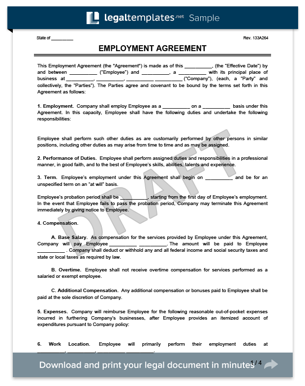Employment Agreement Template