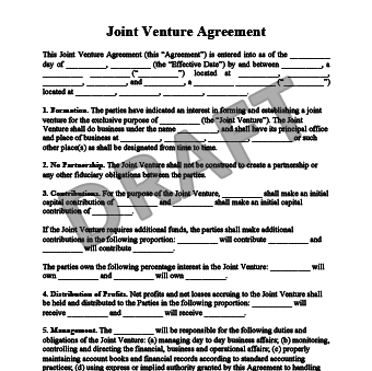 Create Your Free Joint Venture Agreement In Minutes.