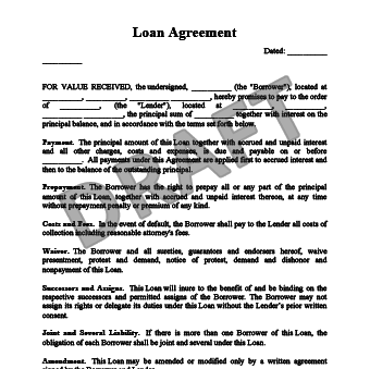 Awesome Loan Agreement. View Sample