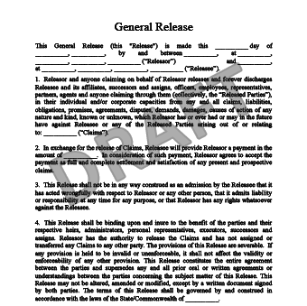 Charming Release Of Liability Form Regarding General Release Of Liability Form Template