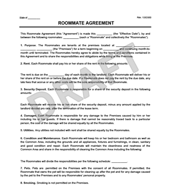 roommate contract template Roommate Agreement/Contract | Create