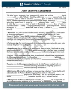 Business plan template create a free business plan joint venture agreement form accmission Image collections