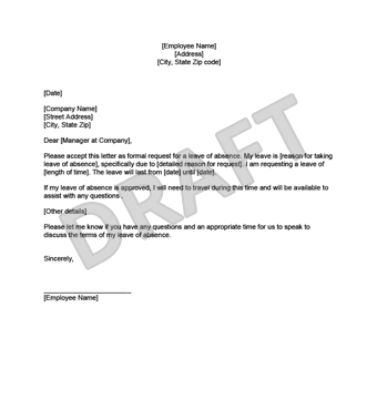 Leave of absence letter create download a free template leave of absence letter example thumbnail thecheapjerseys Image collections