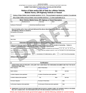 free florida bill of sale form pdf template legaltemplates