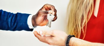 handing the keys over after proof of purchase