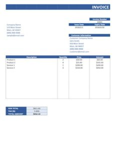 simple invoice template excel sample image