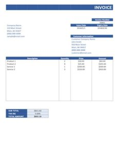 simple invoice template pdf sample image