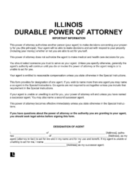 Illinois durable power of attorney
