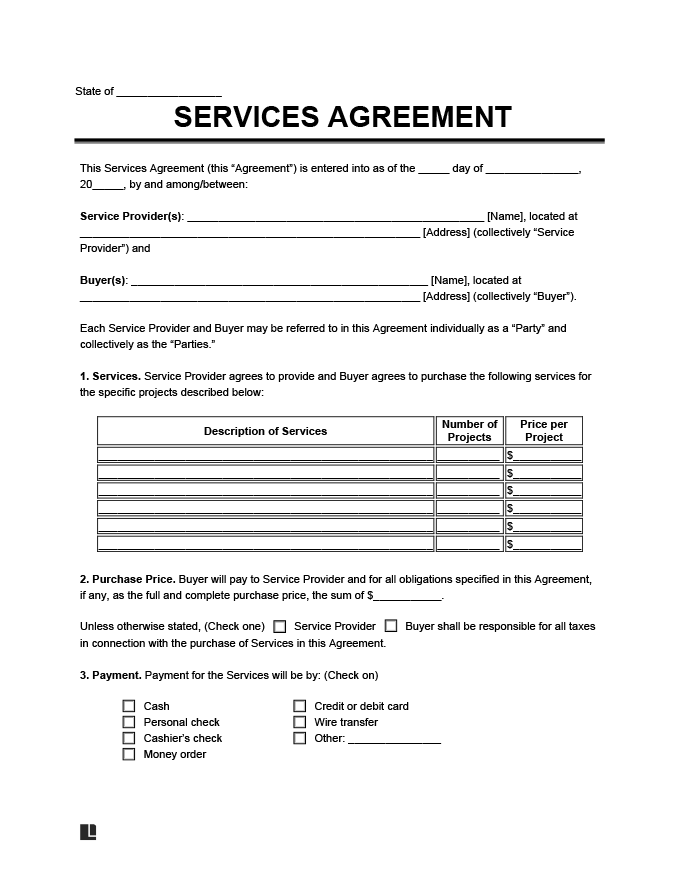 Business Contract Template (Service Agreement)