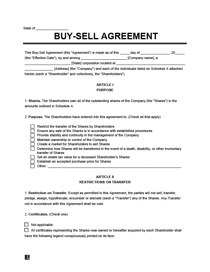 Buy sell agreement template create a free buy sell agreement buy sell agreement form template platinumwayz