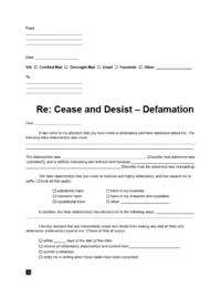 cease and desist defamation letter