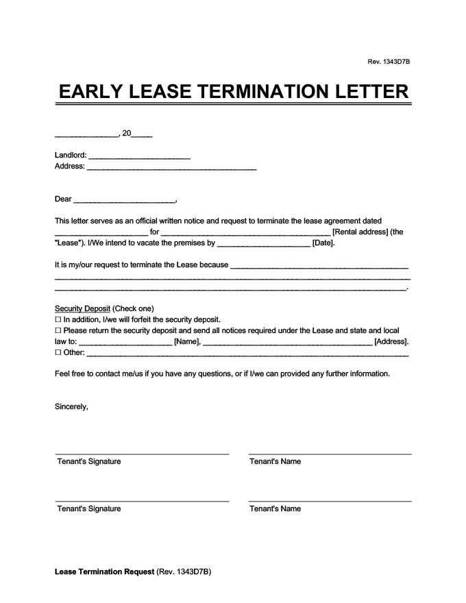 Tenant To Landlord Lease Termination Letter from legaltemplates.net