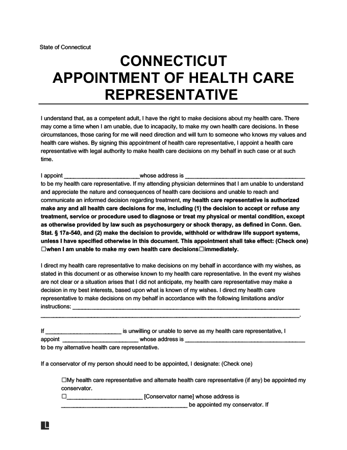 connecticut medical power of attorney