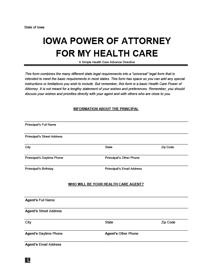 Iowa medical power of attorney
