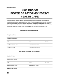 new mexico medical power of attorney