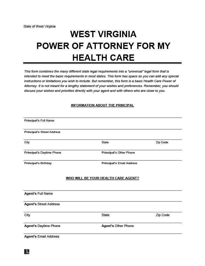 west virginia medical power of attorney