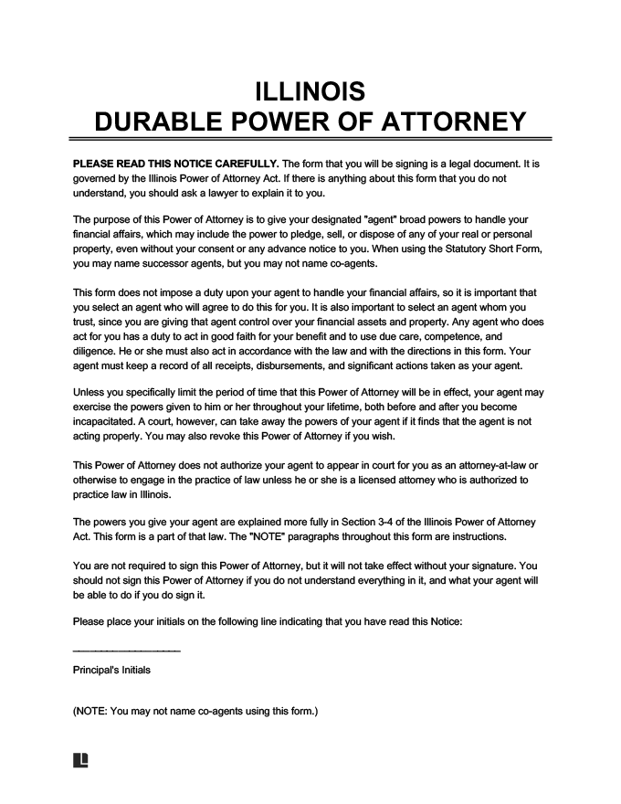 Illinois power of attorney