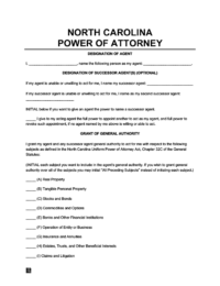 North Carolina power of attorney